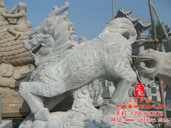 石雕麒麟的制作加工过程