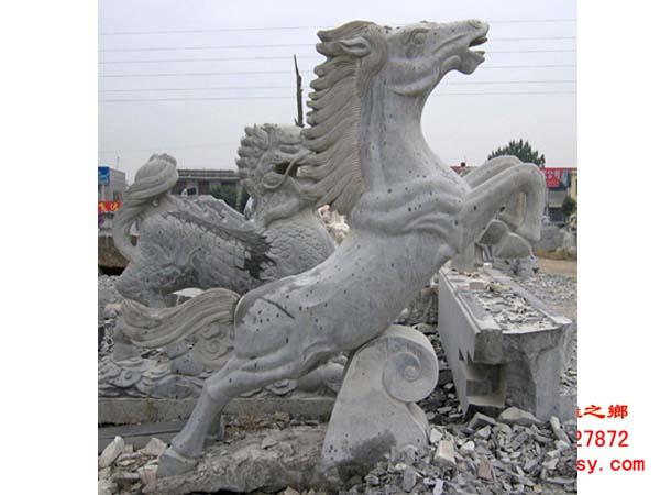 动物石雕|石雕马|马踏飞燕雕塑|石马雕刻|飞腾石马
