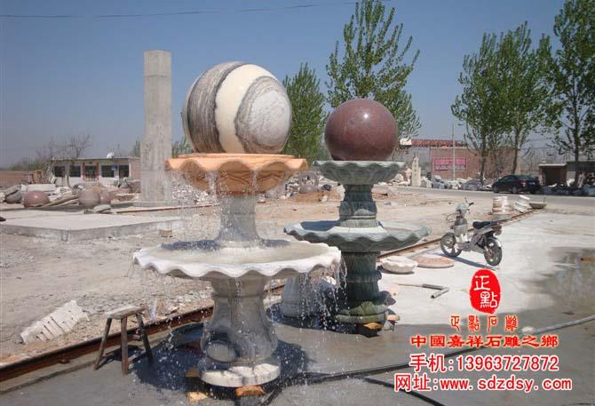 石雕喷泉_石雕风水球_石材喷泉雕刻_石头喷泉_景观石喷泉雕塑厂家